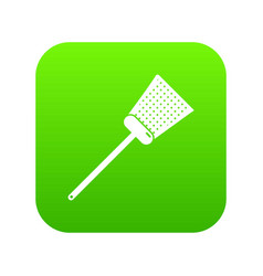 swatter icon green vector image