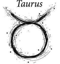 taurus astrology sign hand drawn horoscope vector image