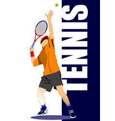 Tennis poster colored for designers vector