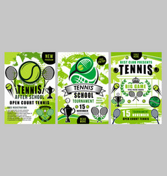 tennis sport school team club tournament vector image