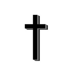 the black cross on a white background vector image