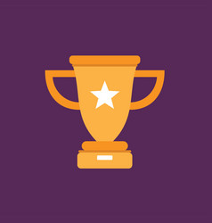 trophy icon set of great flat icons with style vector image