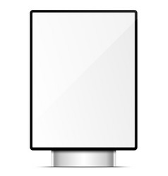white lcd screen background vector image