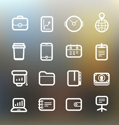 White web interface icons clip-art vector