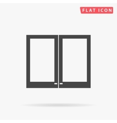 window simple flat icon vector image
