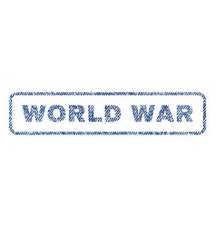 World war textile stamp vector
