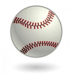 baseball illustration vector image vector image