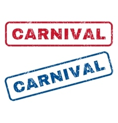 Carnival rubber stamps vector