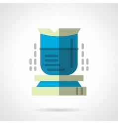 Chemical beaker flat icon vector image