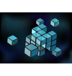 cube construction vector image vector image