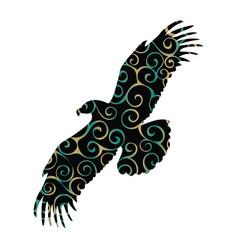 eagle bird color silhouette animal vector image