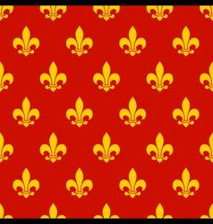 Fleur de lys Seamless Pattern vector image