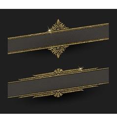 Glitter gold decorative frames vector image vector image