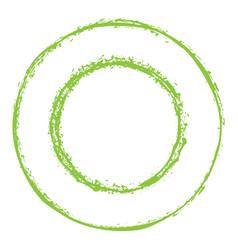 green circles grunge frame vector image vector image