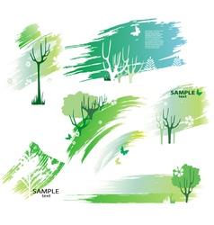 green design elements vector image vector image