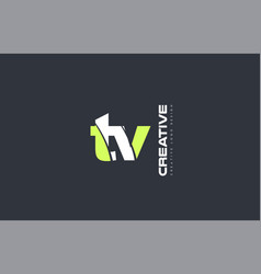 green letter tv t v combination logo icon company vector image vector image