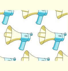 handheld megaphone pattern vector image