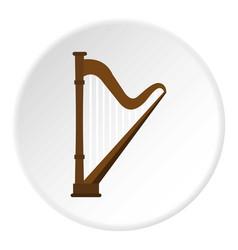 harp icon circle vector image