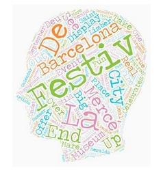 La Merce Festival Of Barcelona text background vector image