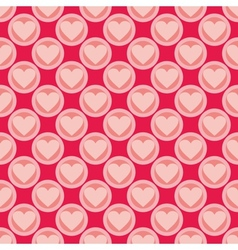 Pink and red seamless background with hearts vector image