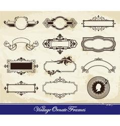 Vector set of vintage frames vector