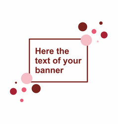 abstract frame banner template vector image vector image