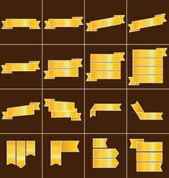 Gold ribbon icons set vector image vector image