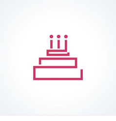 logo cake with candle vector image