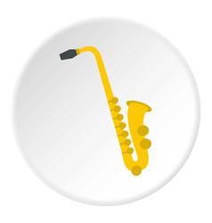 saxophone icon circle vector image