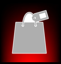 shopping bag with tag vector image