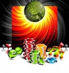 entertainment background vector image