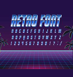 font style 80 s vector image