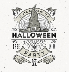 Line art for Halloween party vector image vector image