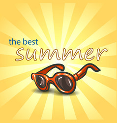 summer background with sunglasses vector image vector image