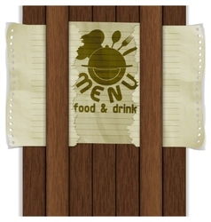 template frame food and drink wooden boards vector image vector image