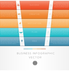 template infographic Colour strips 5 position vector image vector image