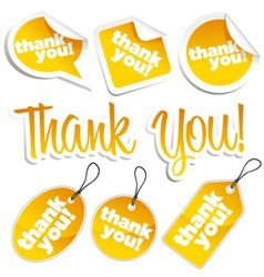 thank you stickers and tags vector image vector image