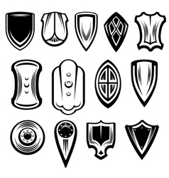 Fantasy Shields Collection vector image vector image