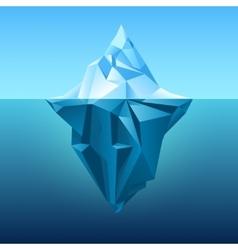 Iceberg in blue ocean background vector
