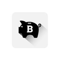 piggy bank bitcoin sign icon digital web money vector image vector image