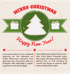 retro festive template vector image vector image