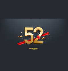 52nd year anniversary background vector