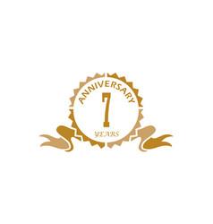 7 years ribbon anniversary vector image