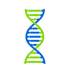 abstract dna strand symbol isolated on white vector image