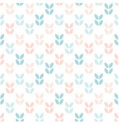 abstract floral seamless pattern scandinavian vector image