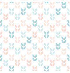 Abstract floral seamless pattern scandinavian vector