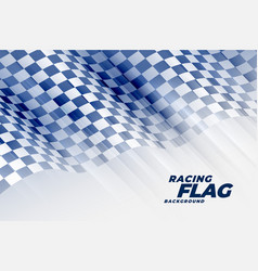 abstract racing flag tournament background vector image