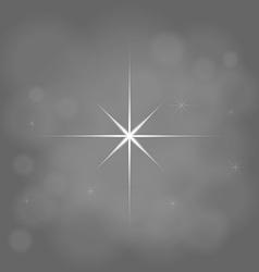Abstract star magic light sky bubble blur gray vector