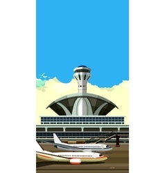airport building vector image