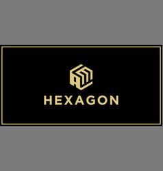 Am hexagon logo vector